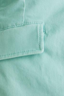 Stretch cotton blazer with a peach finish, LIGHT AQUA GREEN, detail