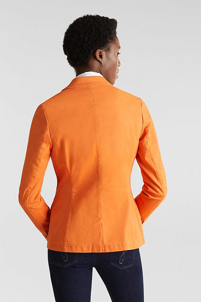 Baumwoll-Stretch-Blazer mit Peach-Finish, RUST ORANGE, detail image number 3
