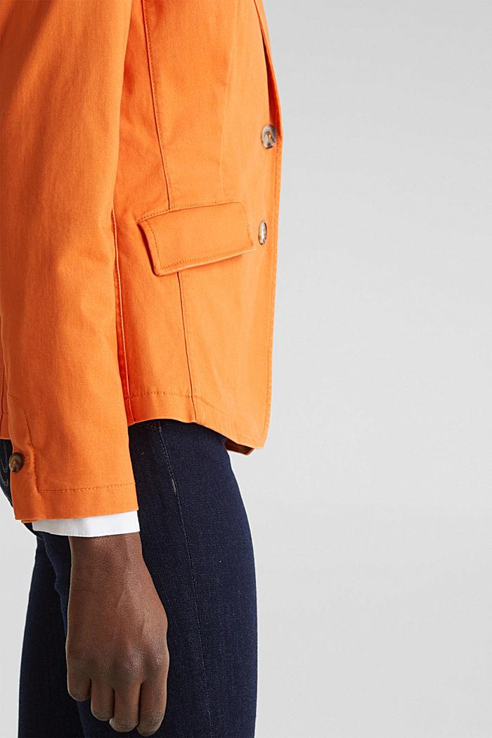 Baumwoll-Stretch-Blazer mit Peach-Finish, RUST ORANGE, detail image number 2