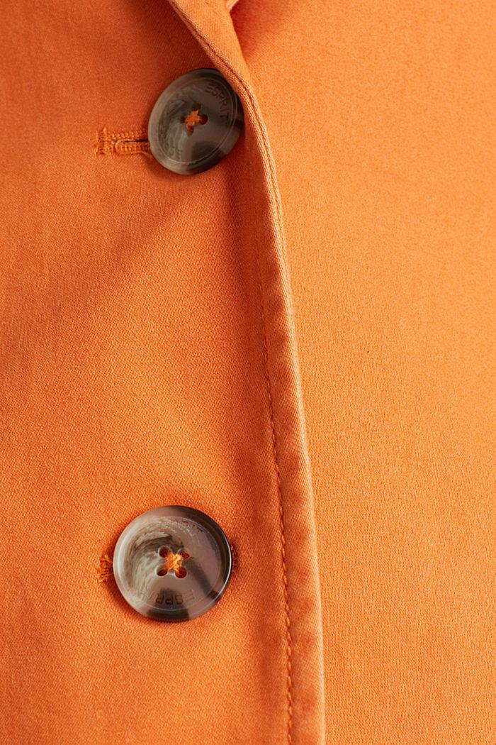 Baumwoll-Stretch-Blazer mit Peach-Finish, RUST ORANGE, detail image number 4