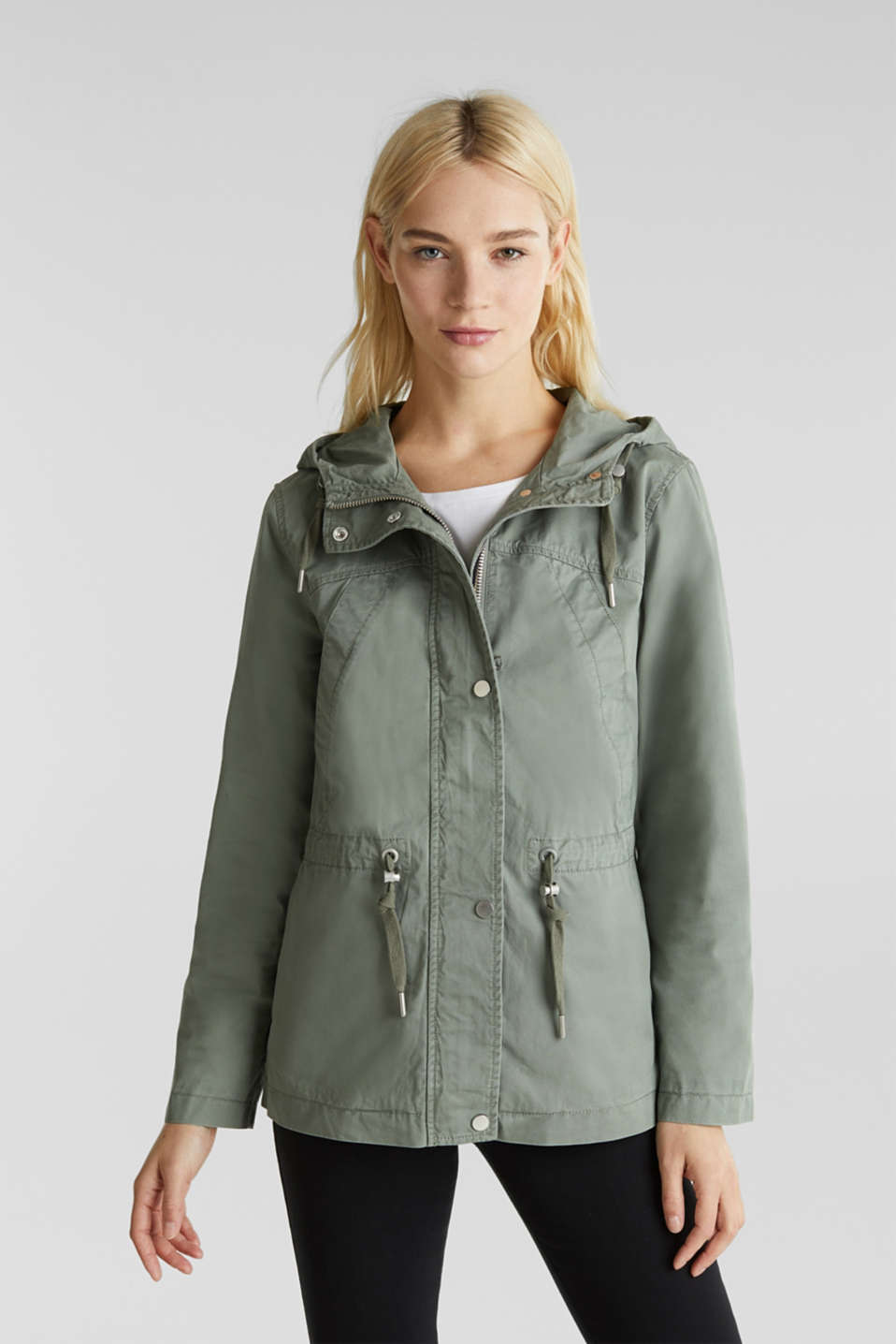 Esprit - Kapuzen-Parka im Washed-Look