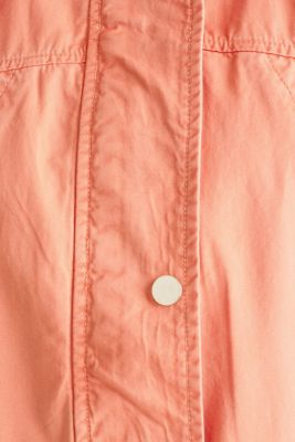 Hooded parka in a garment-washed look, ORANGE, detail