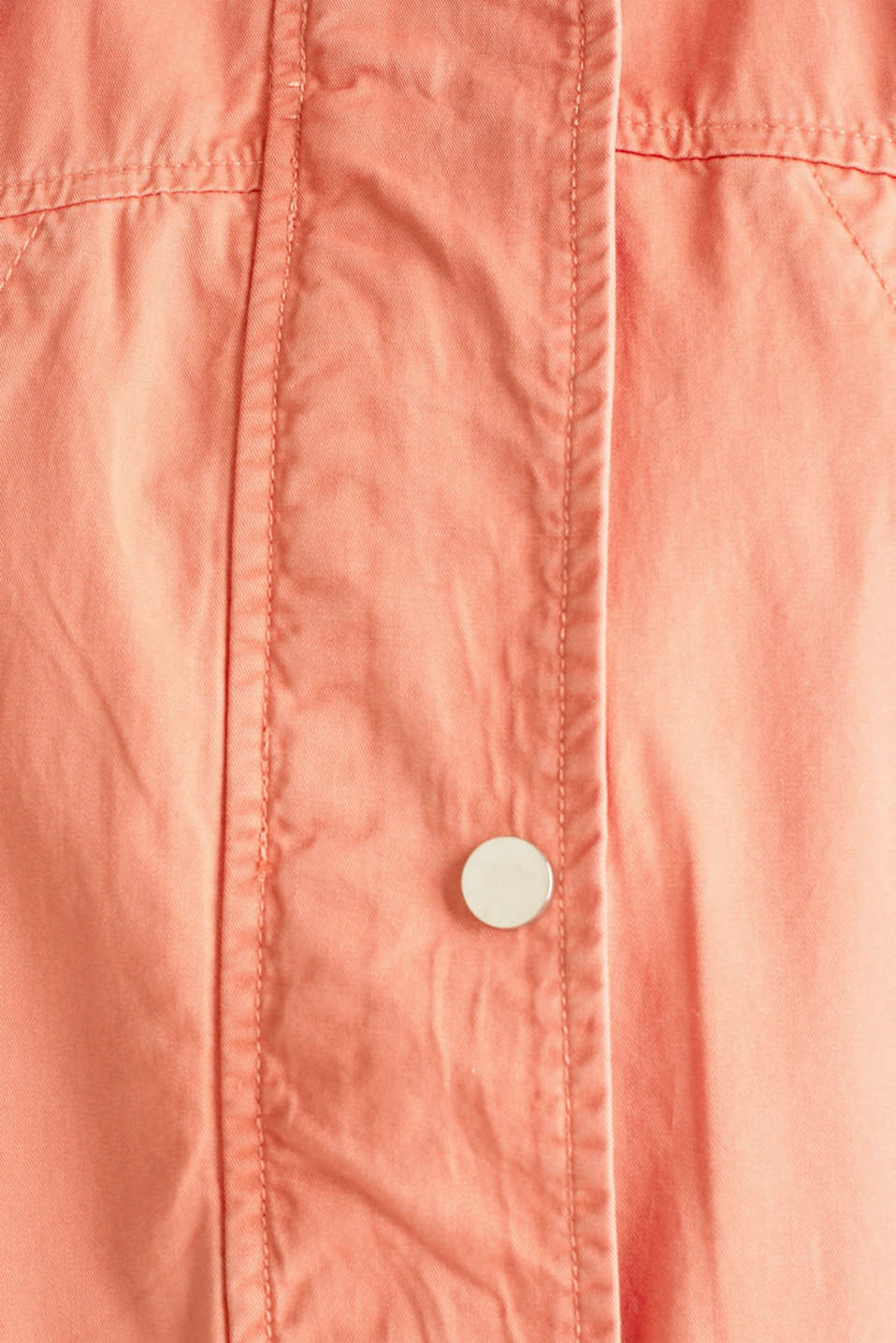 Hooded parka in a garment-washed look, ORANGE, detail image number 4