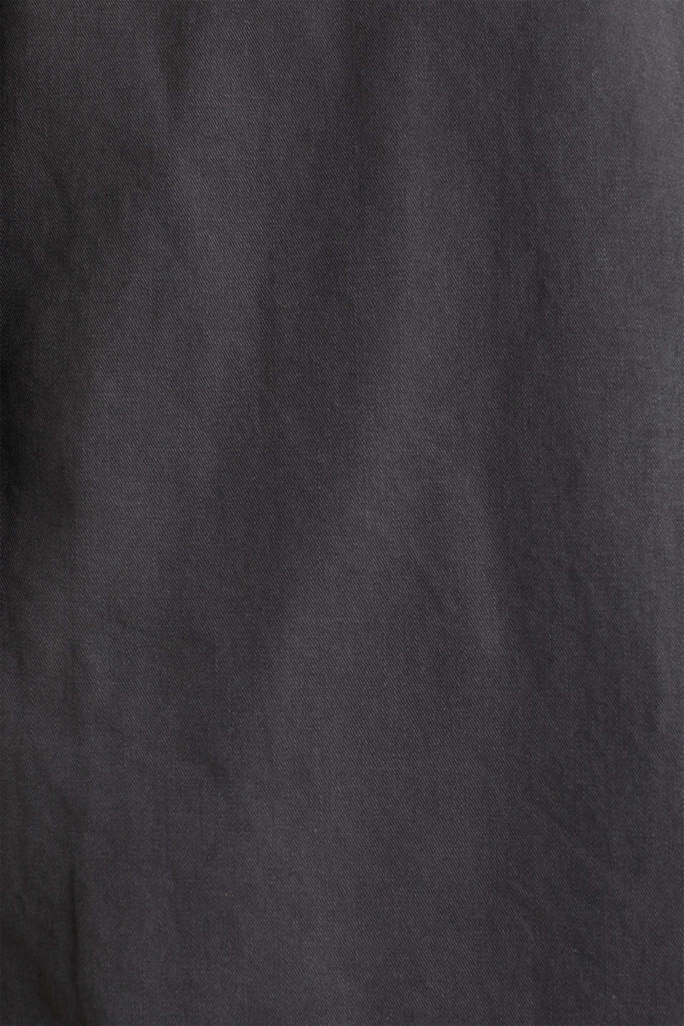 Garment washed cotton trench coat, GUNMETAL, detail image number 4