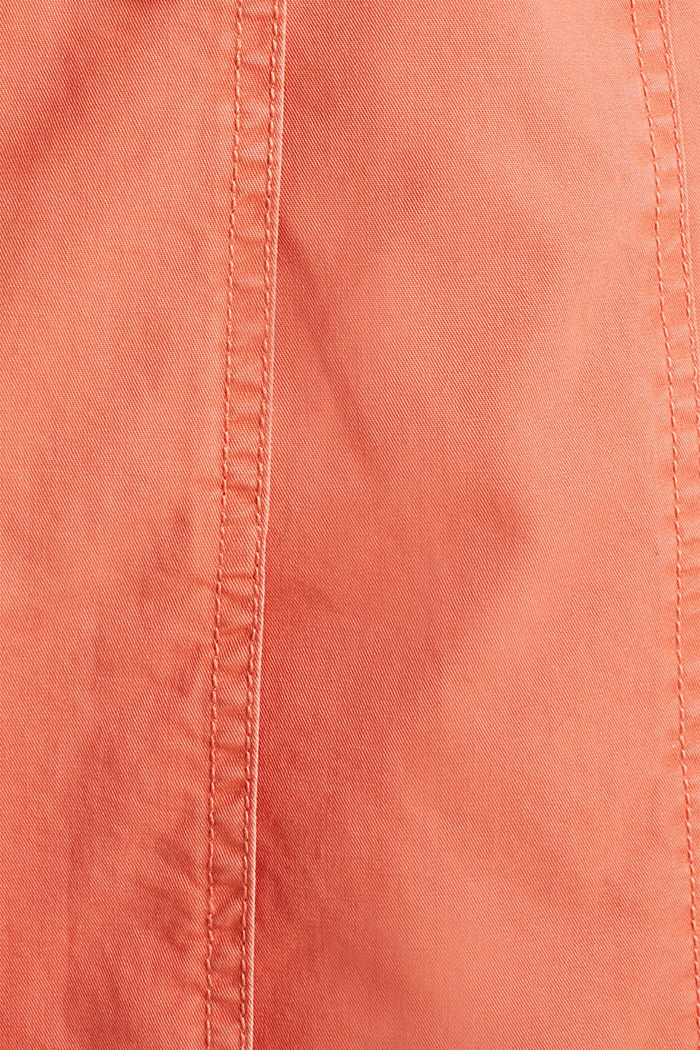 Gewaschener Baumwoll-Trench, ORANGE, detail image number 4