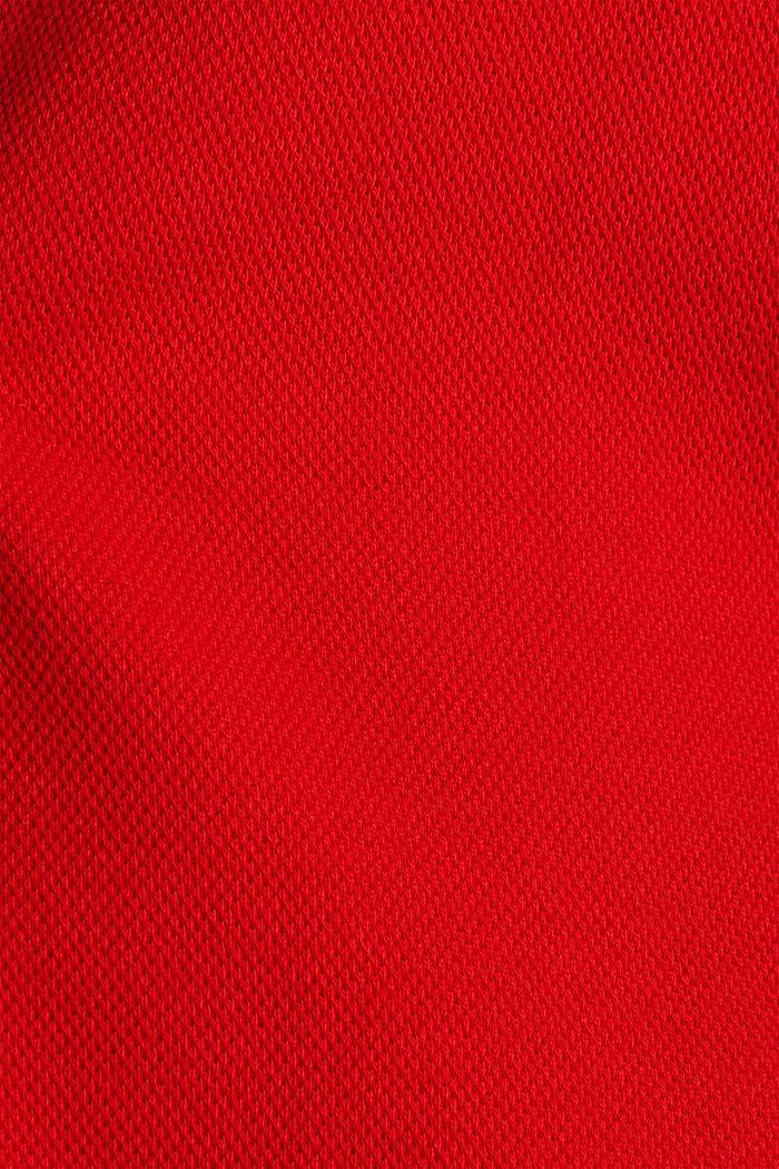 CURVY Ungefütterter Piqué-Blazer, DARK RED, detail image number 4