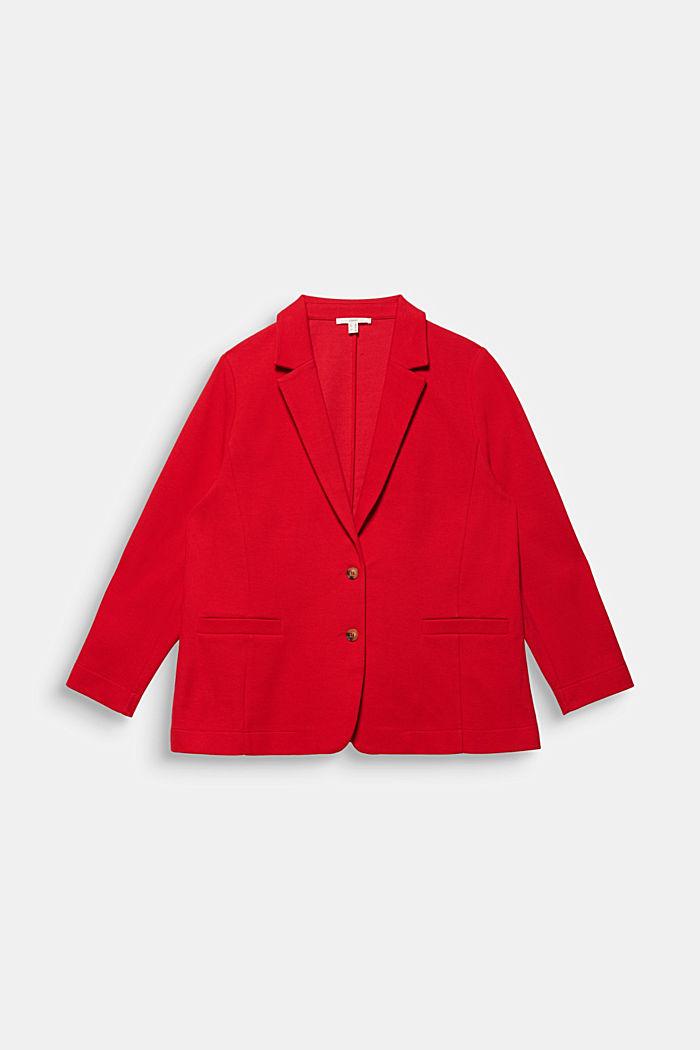 CURVY unlined piqué blazer