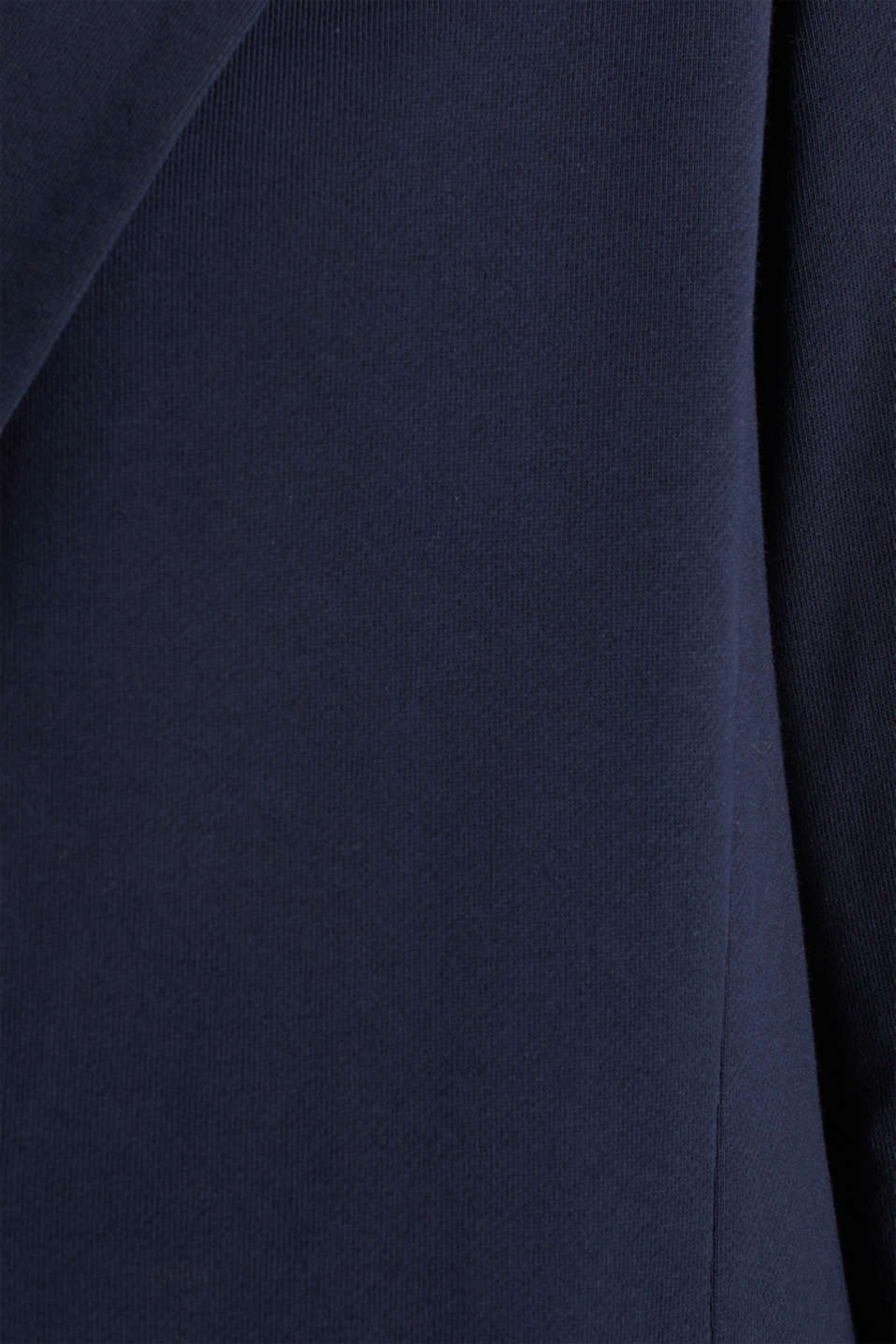 CURVY jersey coat with a striped lining, NAVY, detail image number 4