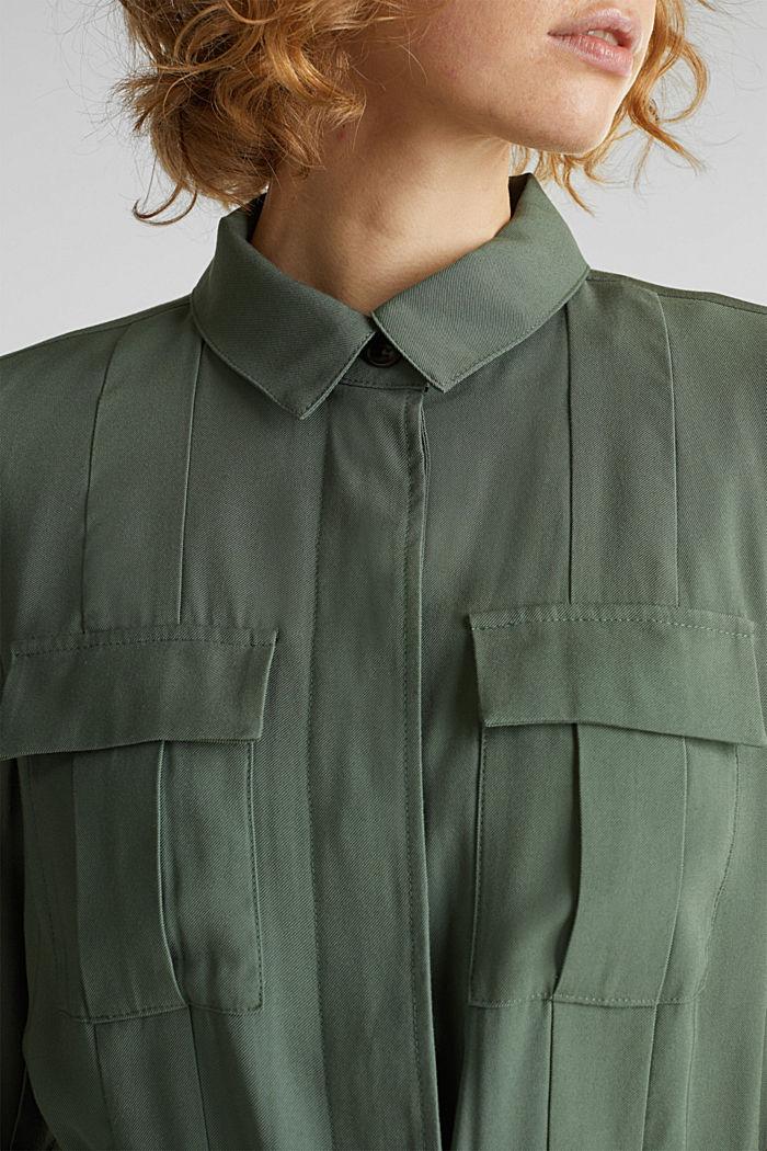 Camisa cazadora estilo militar, KHAKI GREEN, detail image number 2