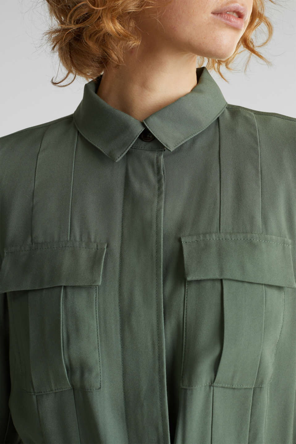 Utility-style shirt jacket, KHAKI GREEN, detail image number 2