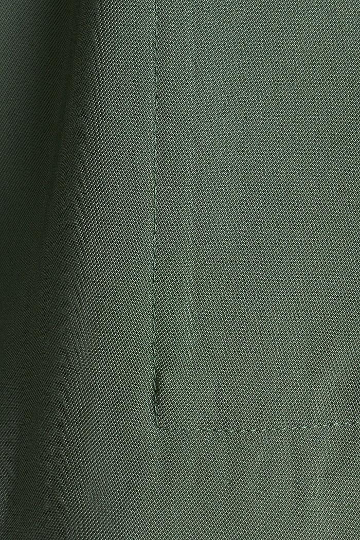 Camisa cazadora estilo militar, KHAKI GREEN, detail image number 4