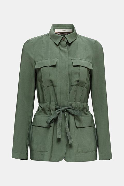 Utility-style shirt jacket