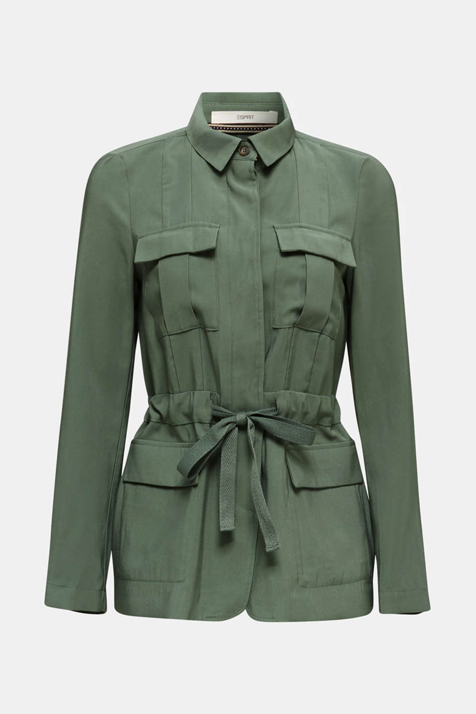Utility-style shirt jacket, KHAKI GREEN, detail image number 5