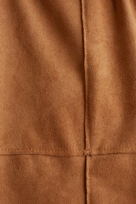Faux suede coat, TOFFEE, detail