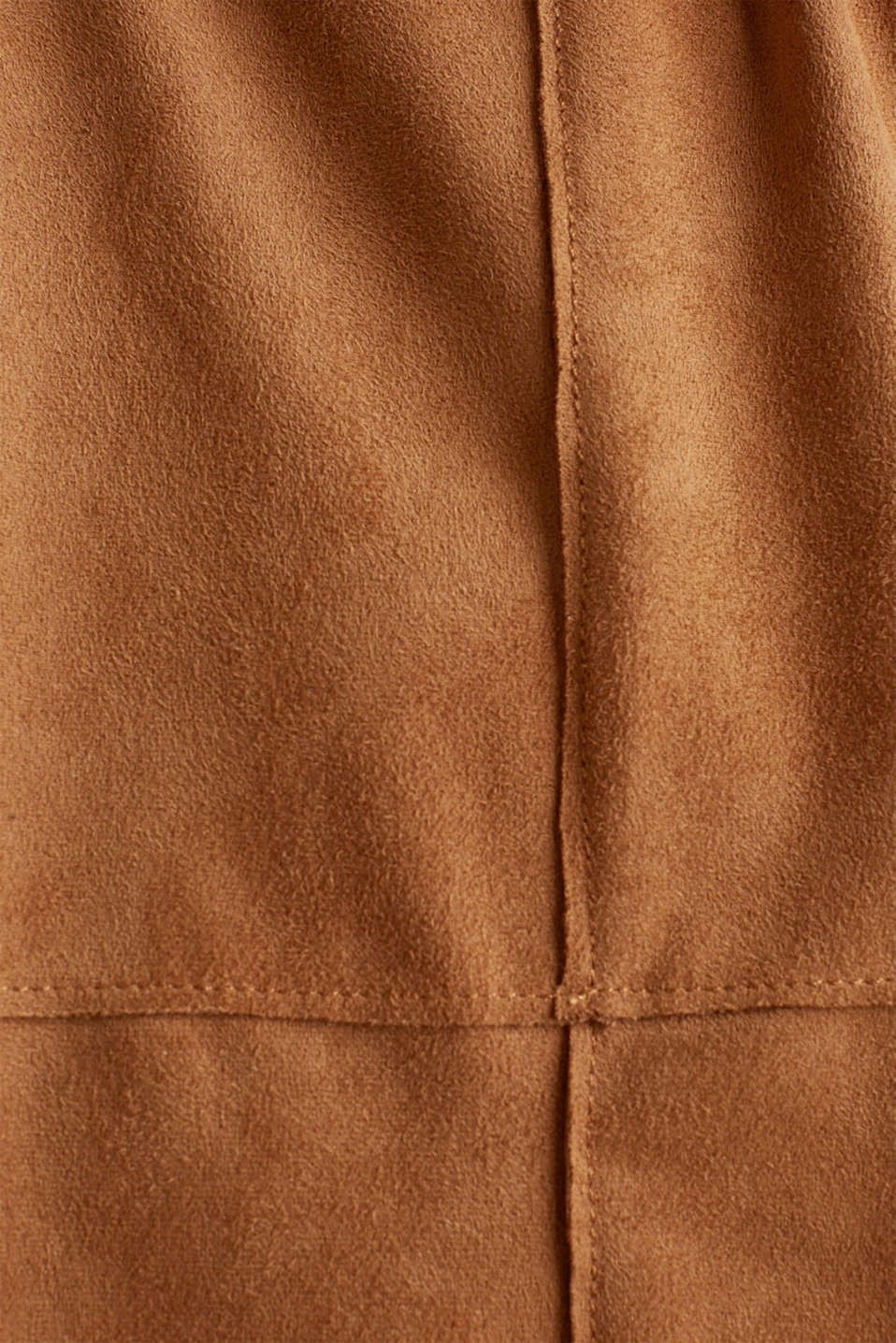 Faux suede coat, TOFFEE, detail image number 4