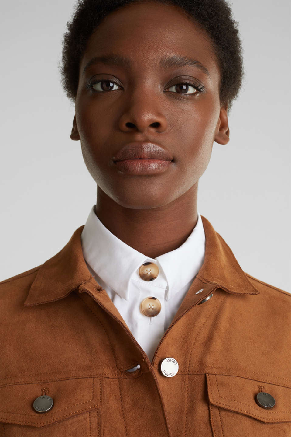 Soft faux suede jacket, TOFFEE, detail image number 6