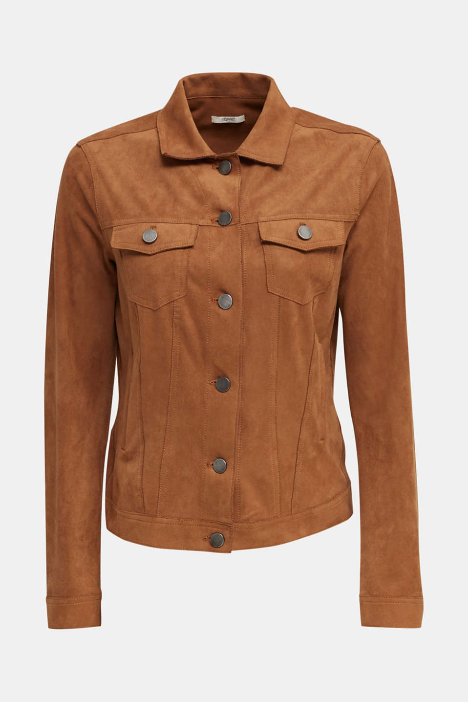Soft faux suede jacket, TOFFEE, detail image number 7