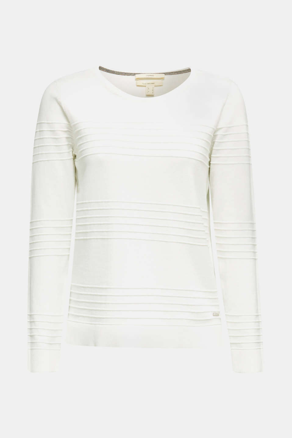 Ribbed-Jumper made of 100% cotton, OFF WHITE, detail image number 6