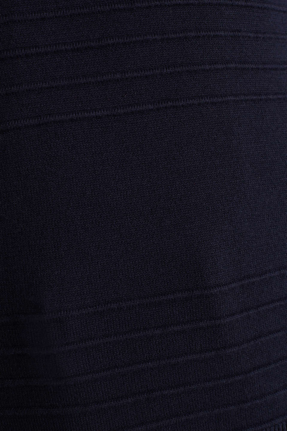 Ribbed-Jumper made of 100% cotton, NAVY, detail image number 4