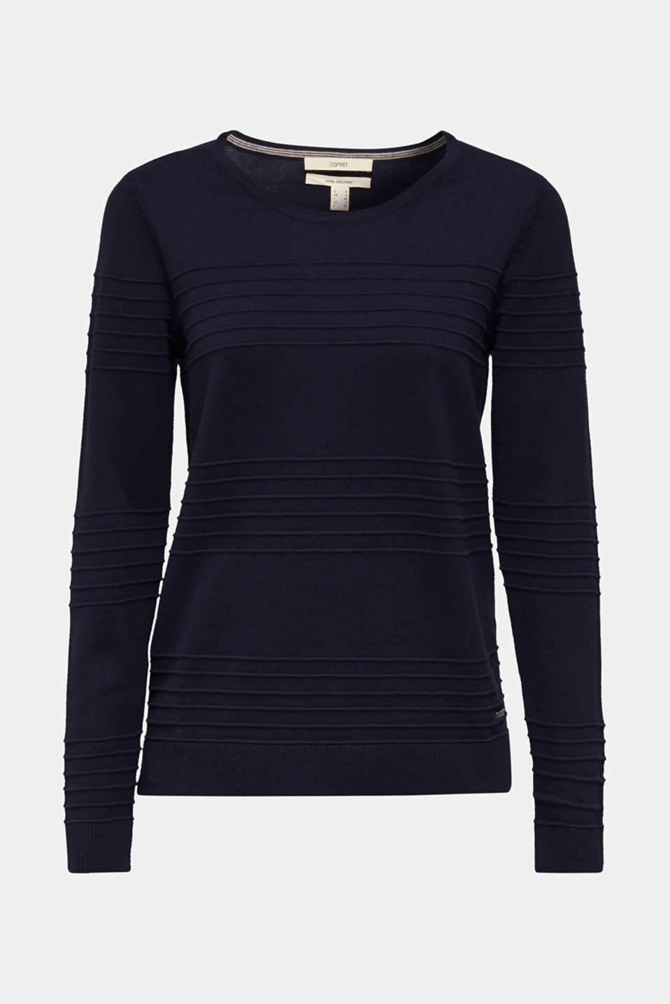 Ribbed-Jumper made of 100% cotton, NAVY, detail image number 6