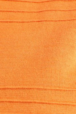 100% cotton jumper with a ribbed texture, RUST ORANGE, detail