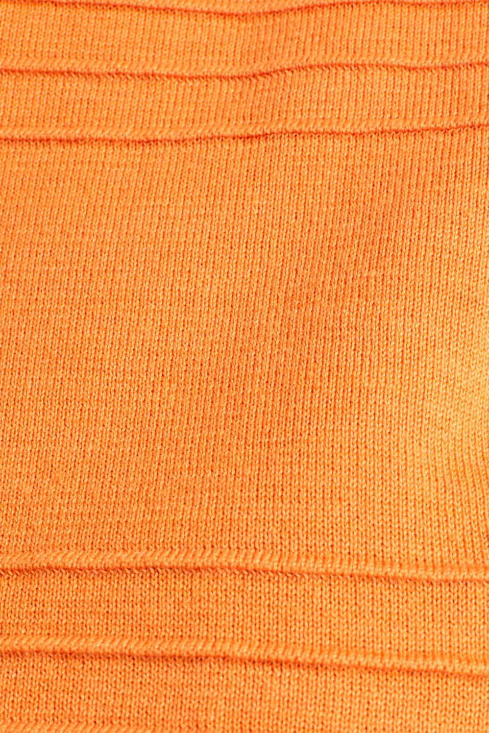 100% cotton jumper with a ribbed texture, RUST ORANGE, detail image number 4