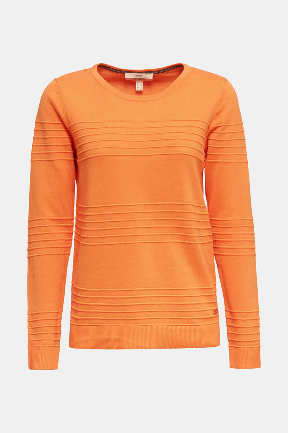 100% cotton jumper with a ribbed texture, RUST ORANGE, detail image number 7
