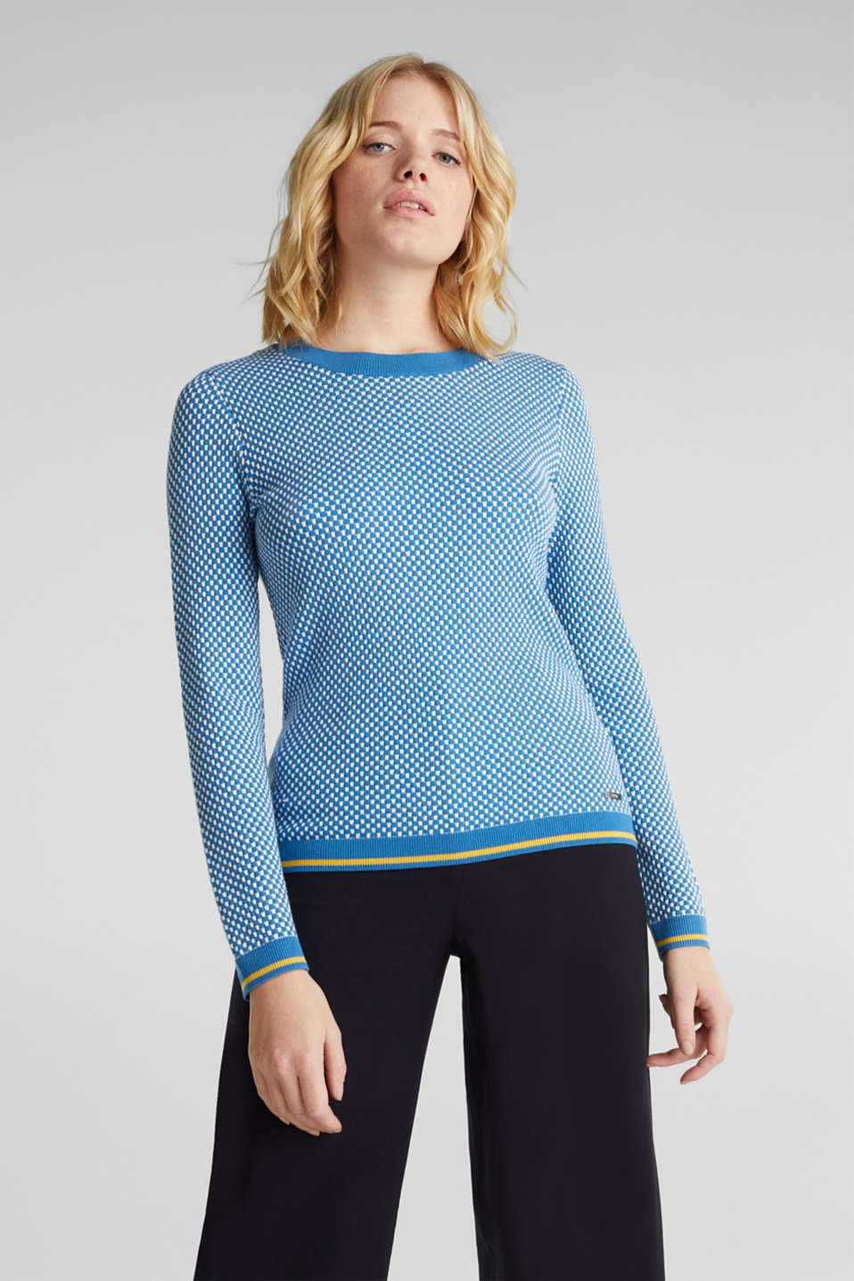 Jumper containing LENZING™ ECOVERO™, BRIGHT BLUE 4, detail image number 0