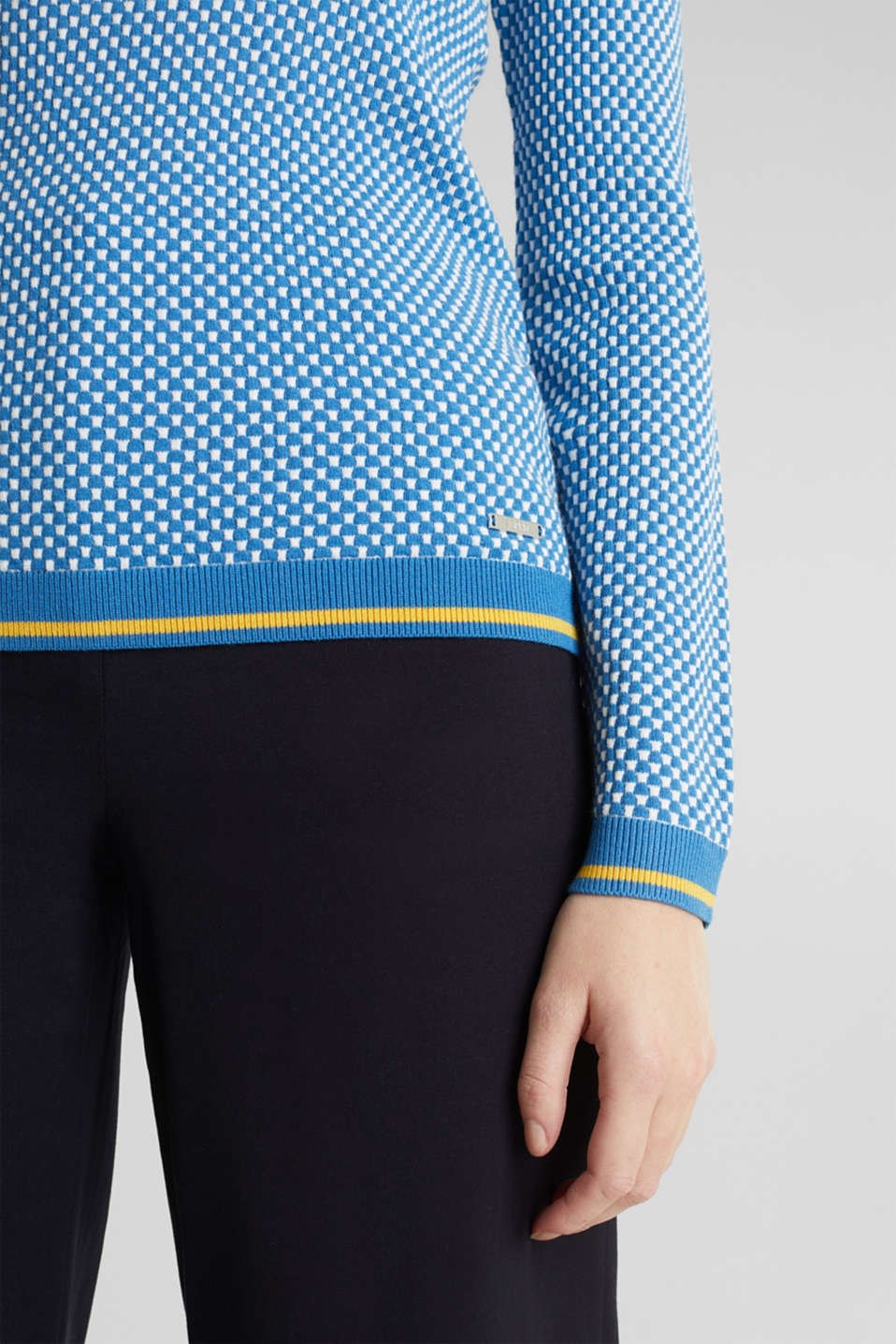 Jumper containing LENZING™ ECOVERO™, BRIGHT BLUE 4, detail image number 2