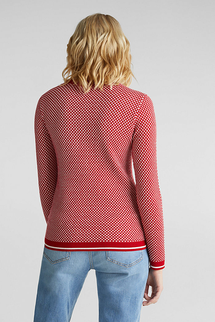 Pullover mit LENZING™ ECOVERO™, DARK RED, detail image number 3