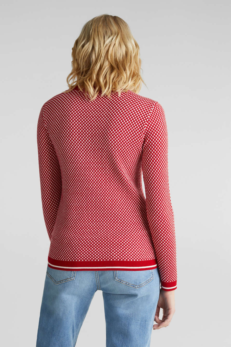 Jumper containing LENZING™ ECOVERO™, DARK RED 4, detail image number 3