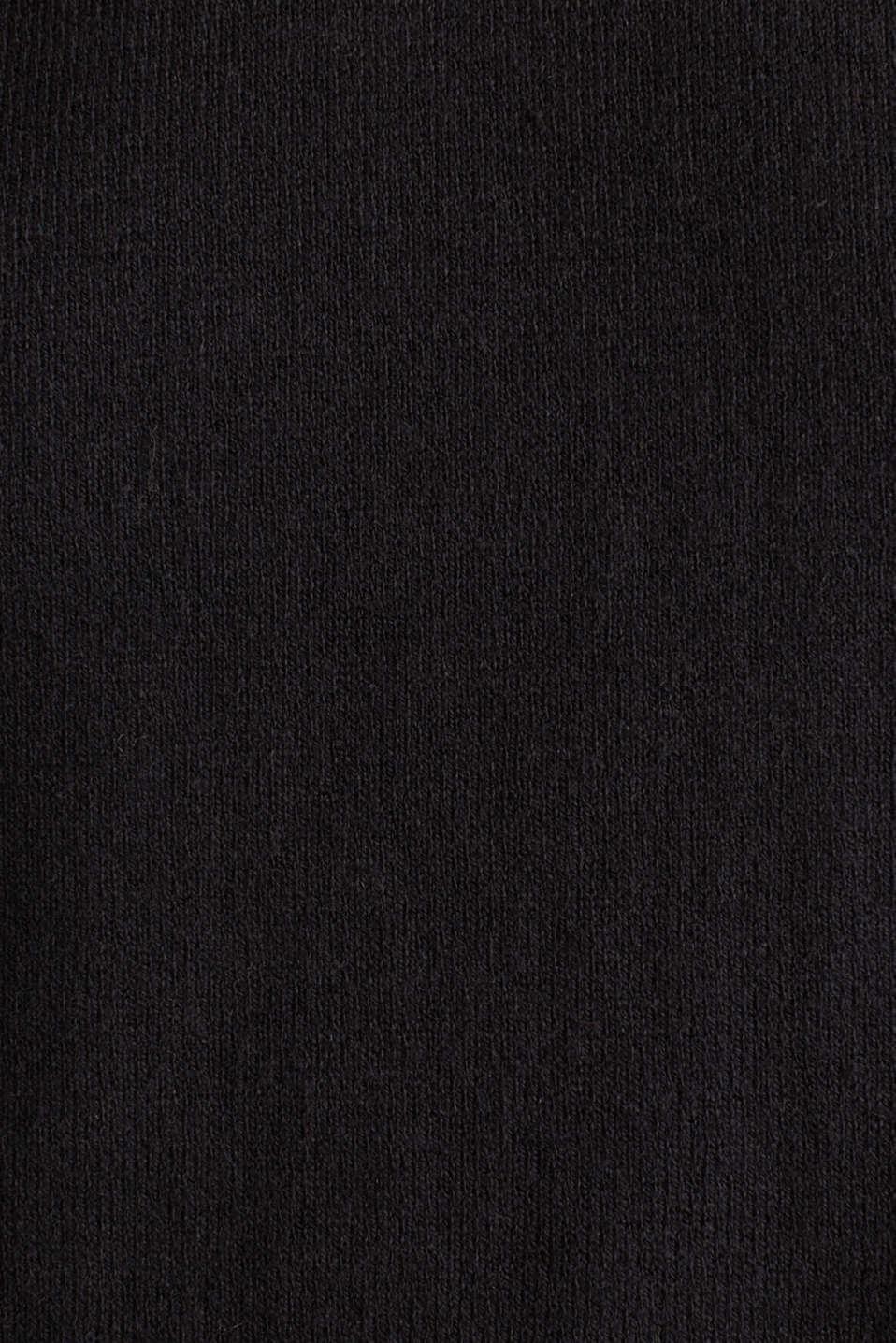 With linen: Jumper with open-work patterned details, BLACK, detail image number 3
