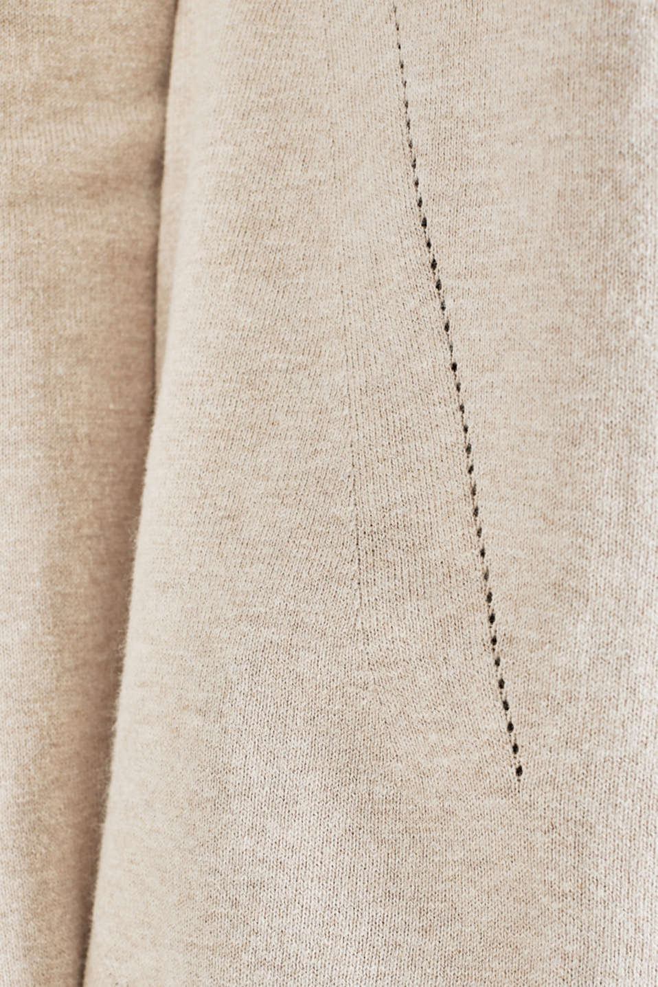 With linen: Jumper with open-work patterned details, BEIGE 5, detail image number 3
