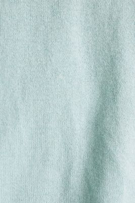 With linen: Jumper with open-work patterned details, LIGHT AQUA GREEN, detail