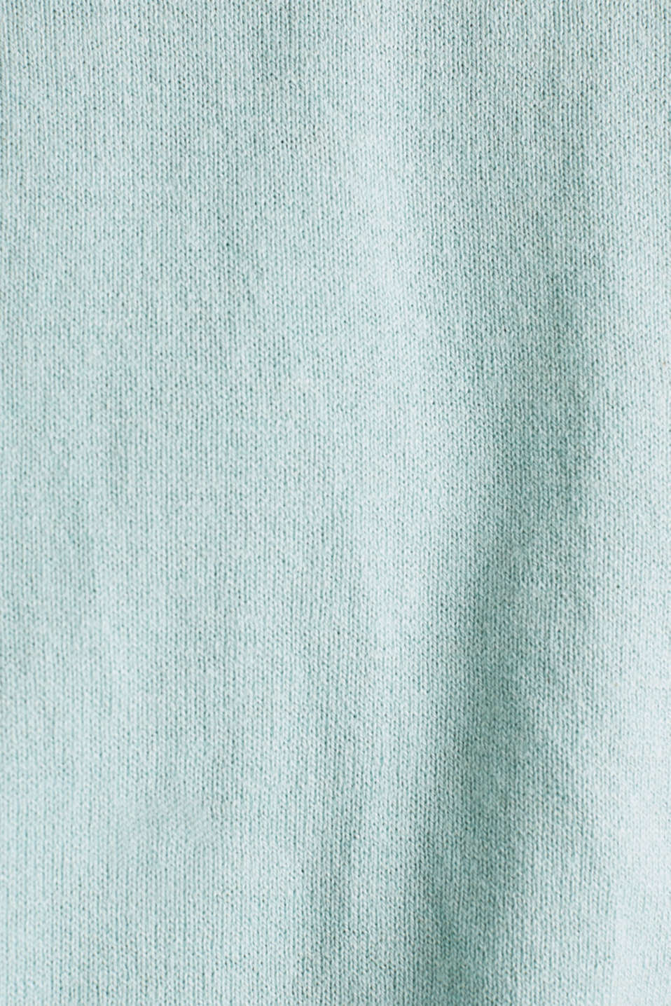 With linen: Jumper with open-work patterned details, LIGHT AQUA GREEN, detail image number 3