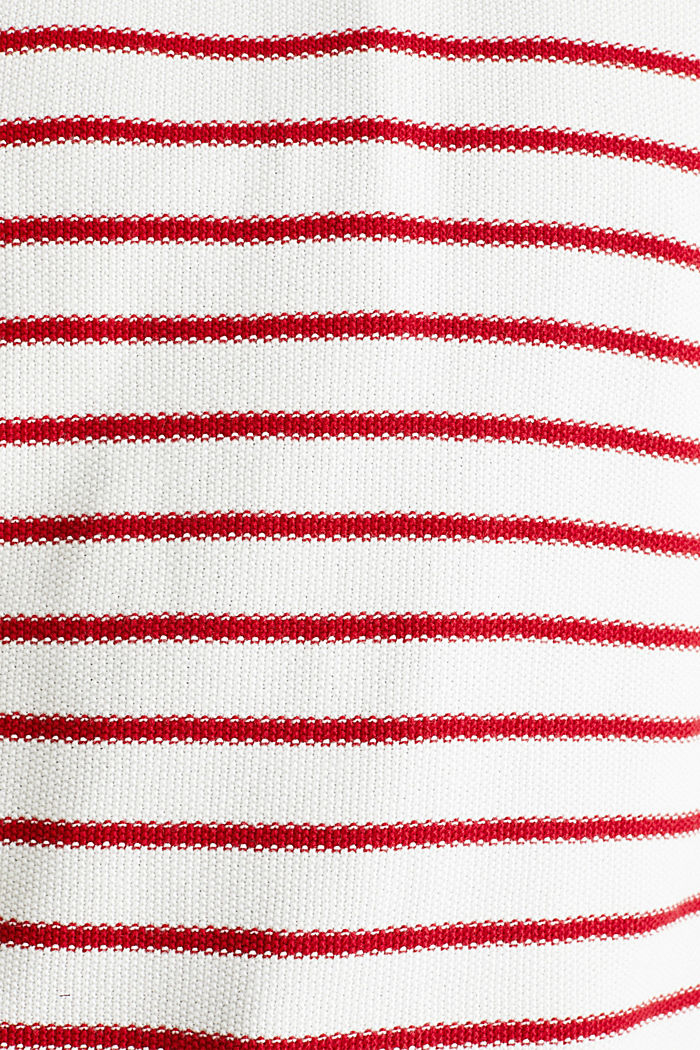 Lace-up detail jumper, 100% cotton, OFF WHITE, detail image number 4
