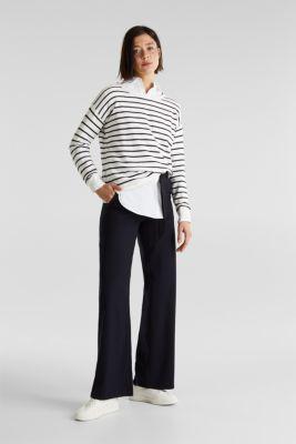Lace-up detail jumper, 100% cotton, OFF WHITE 4, detail