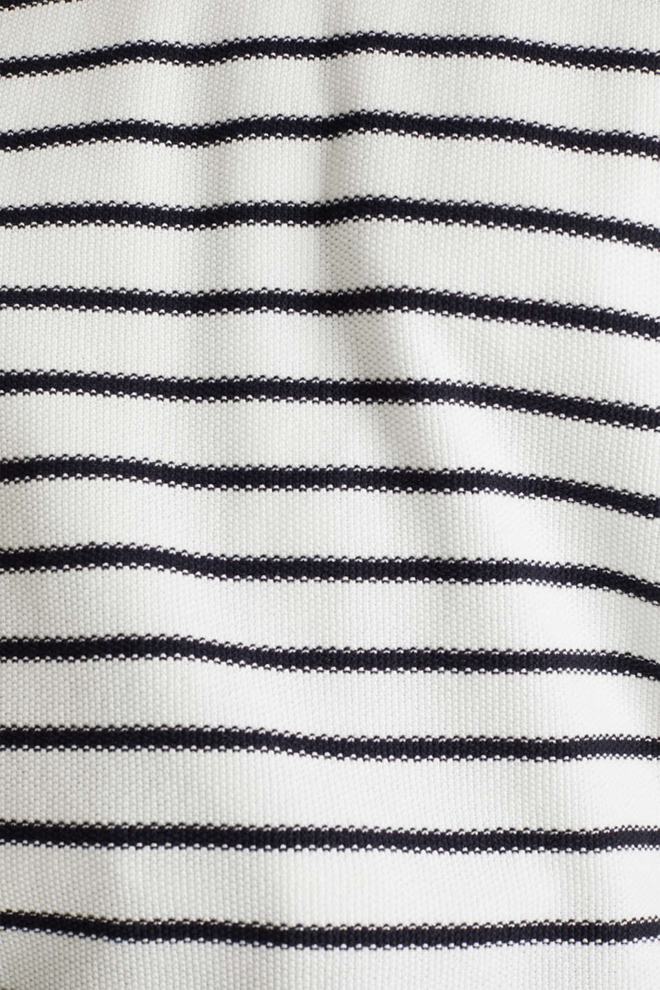 Lace-up detail jumper, 100% cotton, OFF WHITE 4, detail image number 3