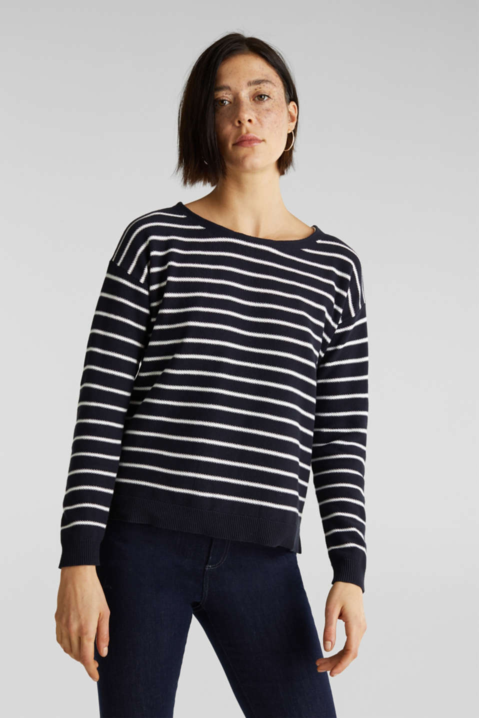 Esprit - Lace-up detail jumper, 100% cotton