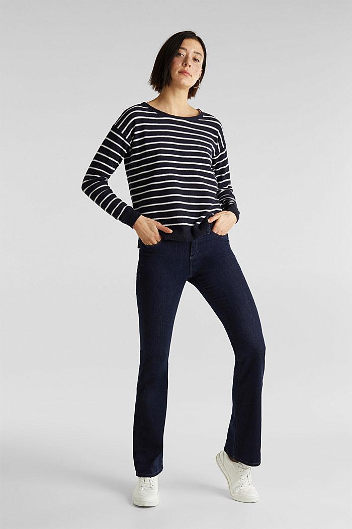 Pullover mit Schnür-Details, 100% Baumwolle, NAVY, detail image number 1
