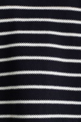 Lace-up detail jumper, 100% cotton, NAVY 4, detail