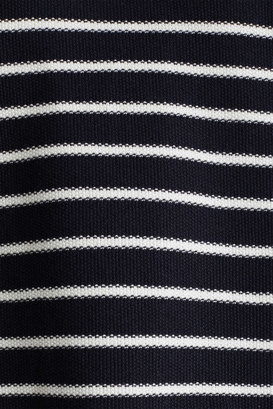 Lace-up detail jumper, 100% cotton, NAVY 4, detail image number 4