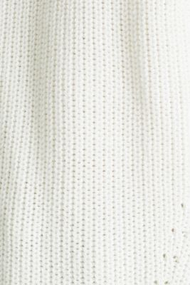 Jumper with textured details, 100% cotton, OFF WHITE, detail