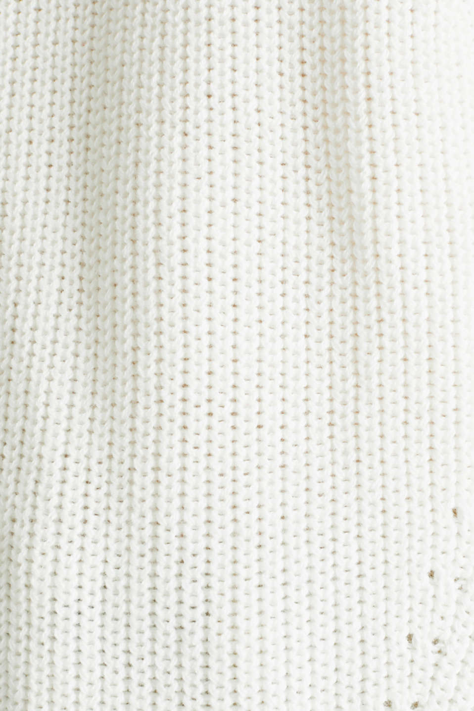 Jumper with textured details, 100% cotton, OFF WHITE, detail image number 3