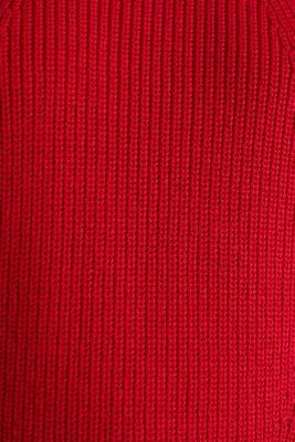 Jumper with textured details, 100% cotton, DARK RED, detail