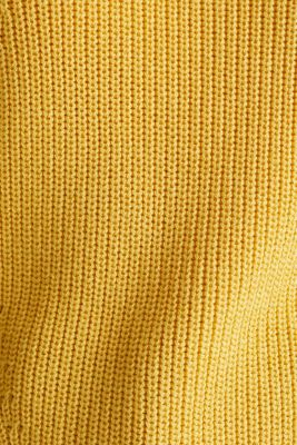 Jumper with textured details, 100% cotton, YELLOW, detail