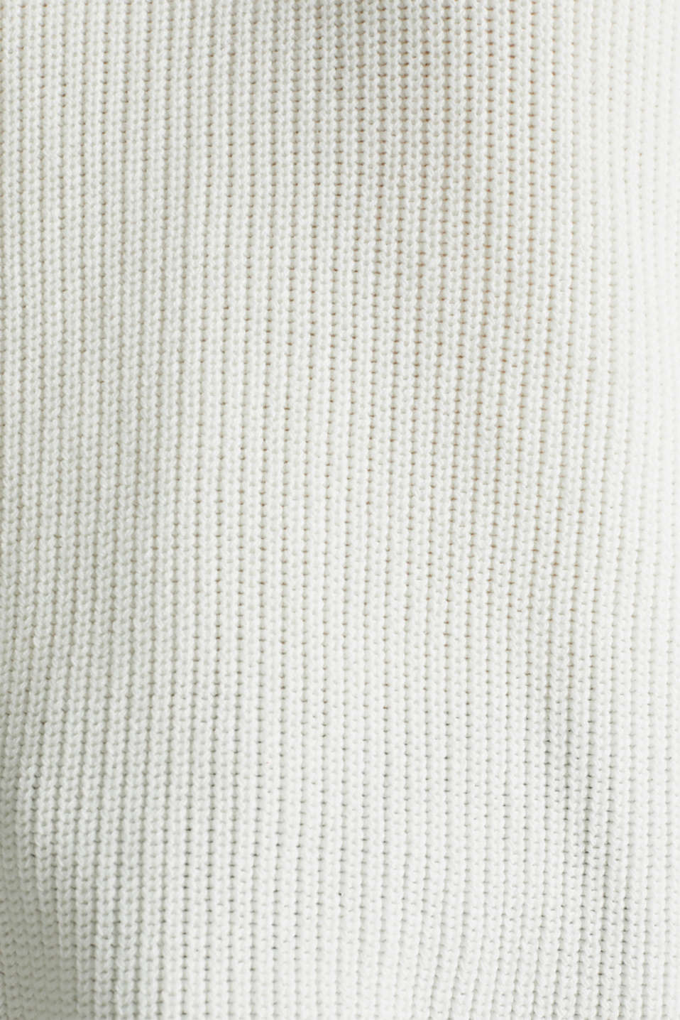 Jumper with a high-low hem, 100% cotton, OFF WHITE, detail image number 3