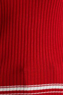Short-sleeved V-neck jumper, DARK RED 3, detail