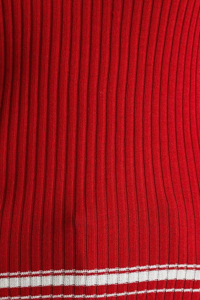 Short-sleeved V-neck jumper, DARK RED, detail image number 4