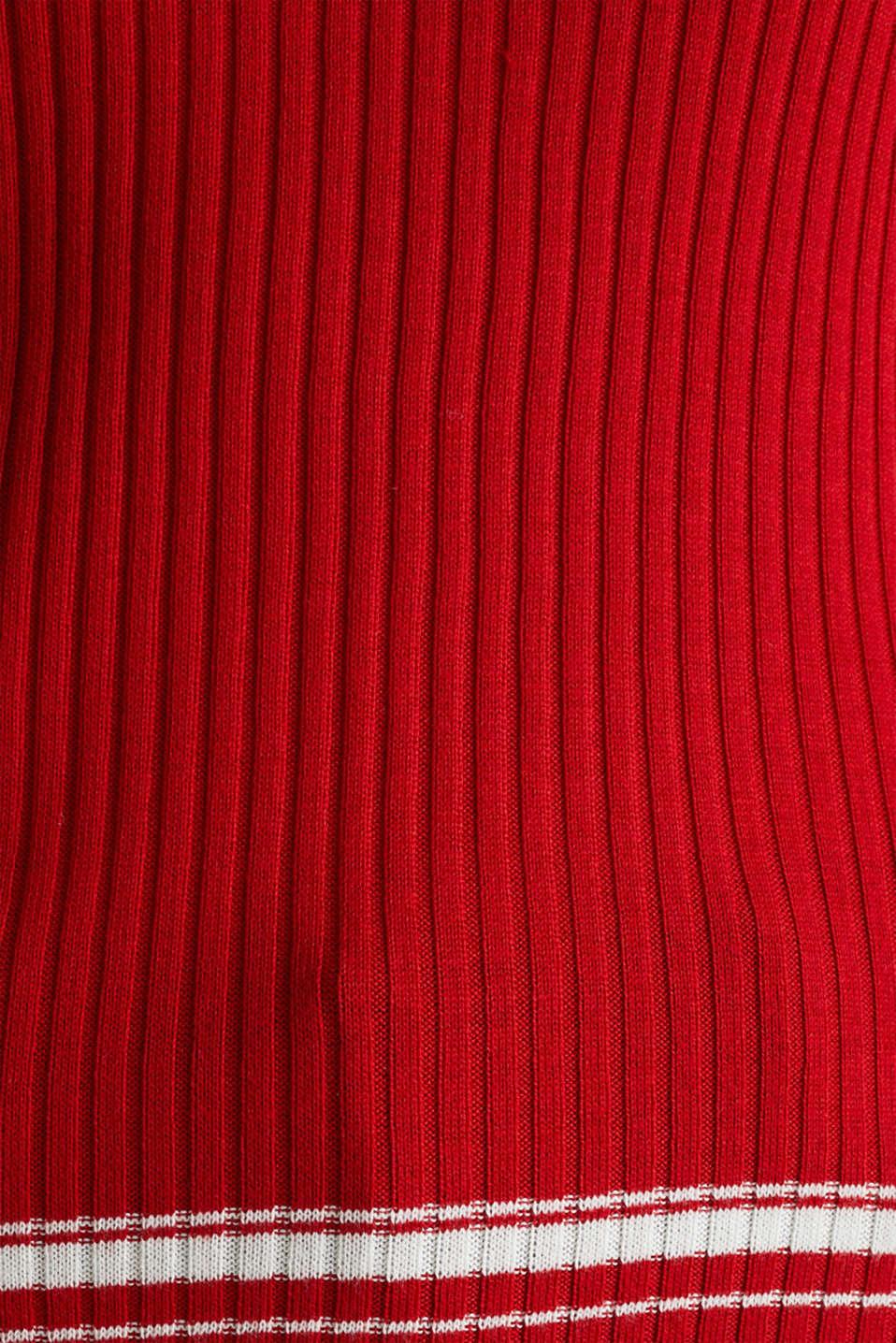 Short-sleeved V-neck jumper, DARK RED 3, detail image number 4